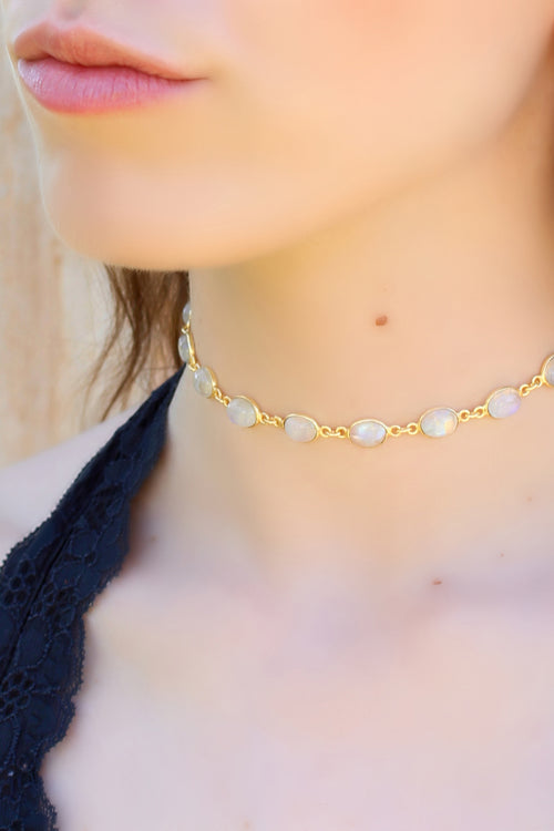 Bridgette Choker Moonstone Brooke Landon Jewelry