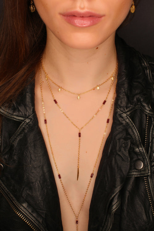 Melody Necklace | Garnet