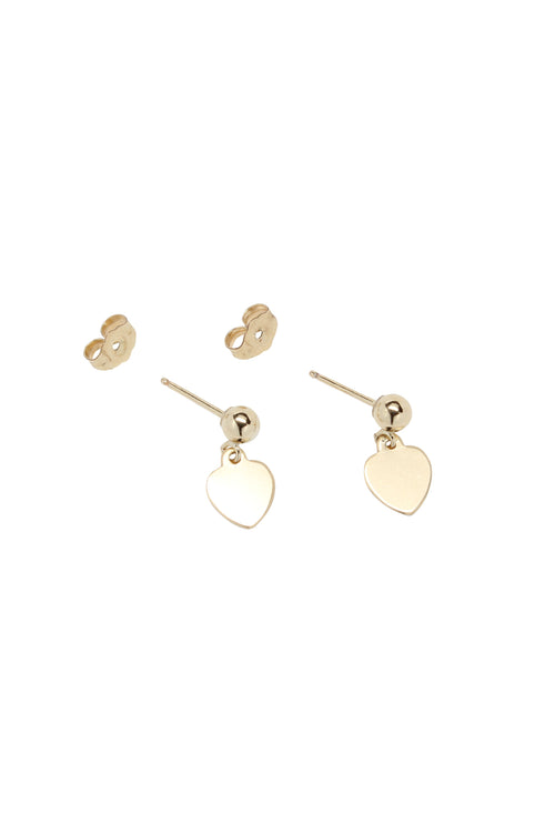 Heart Charm Earrings Gold Brooke Landon Jewelry