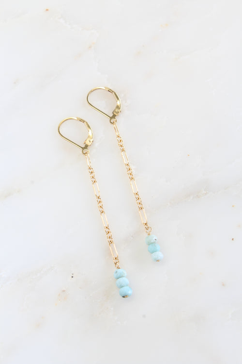 Gold Jada Earrings Amazonite Brooke Landon Jewelry