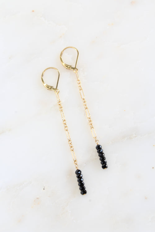 Jada Earrings | Black Spinel