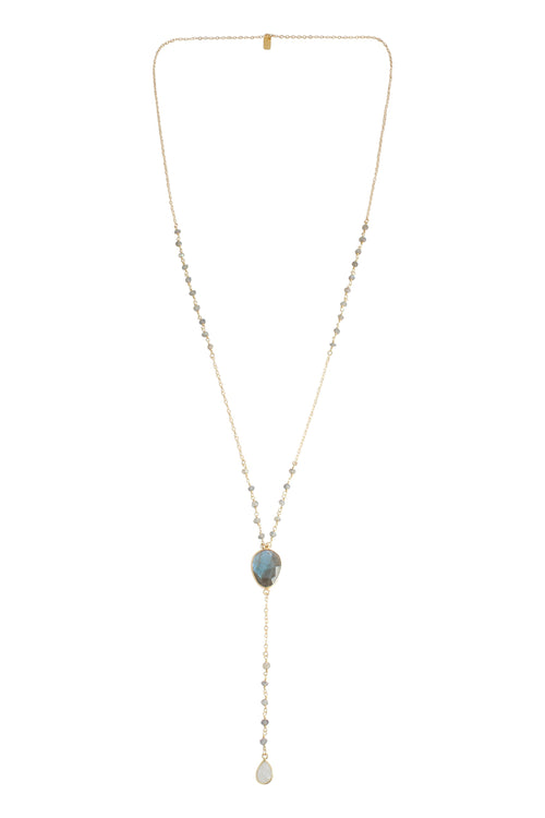 Juliette Necklace Labradorite & Moonstone Brooke Landon Jewelry