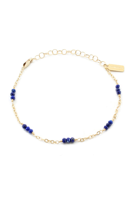 Gold Lilly Bracelet Lapis Lazuli Brooke Landon Jewelry