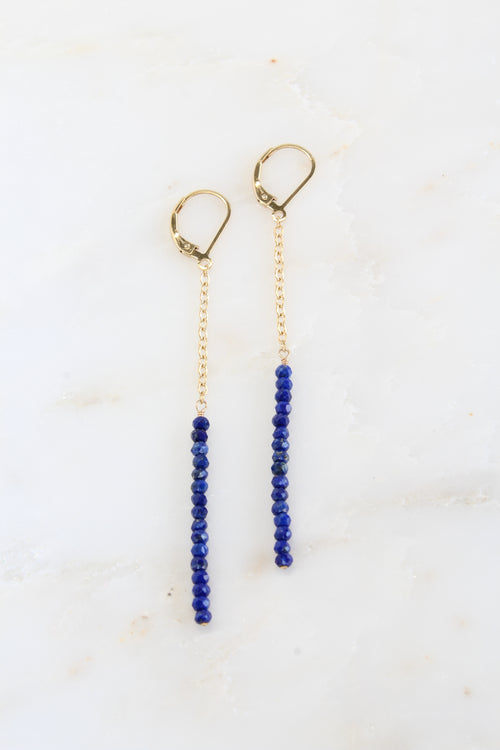 Lilly Earrings | Lapis Lazuli