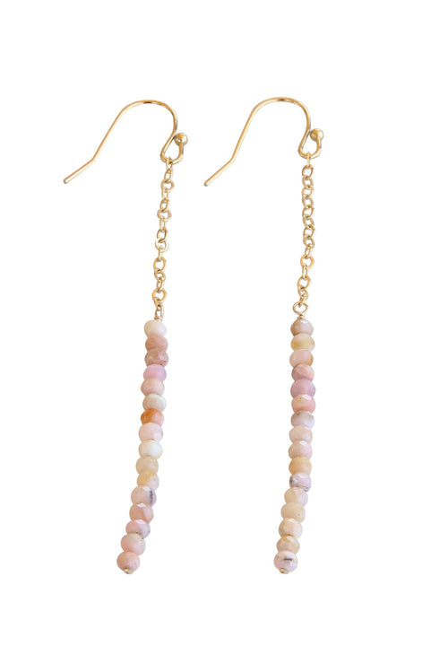 Lilly Earrings | Pink Opal