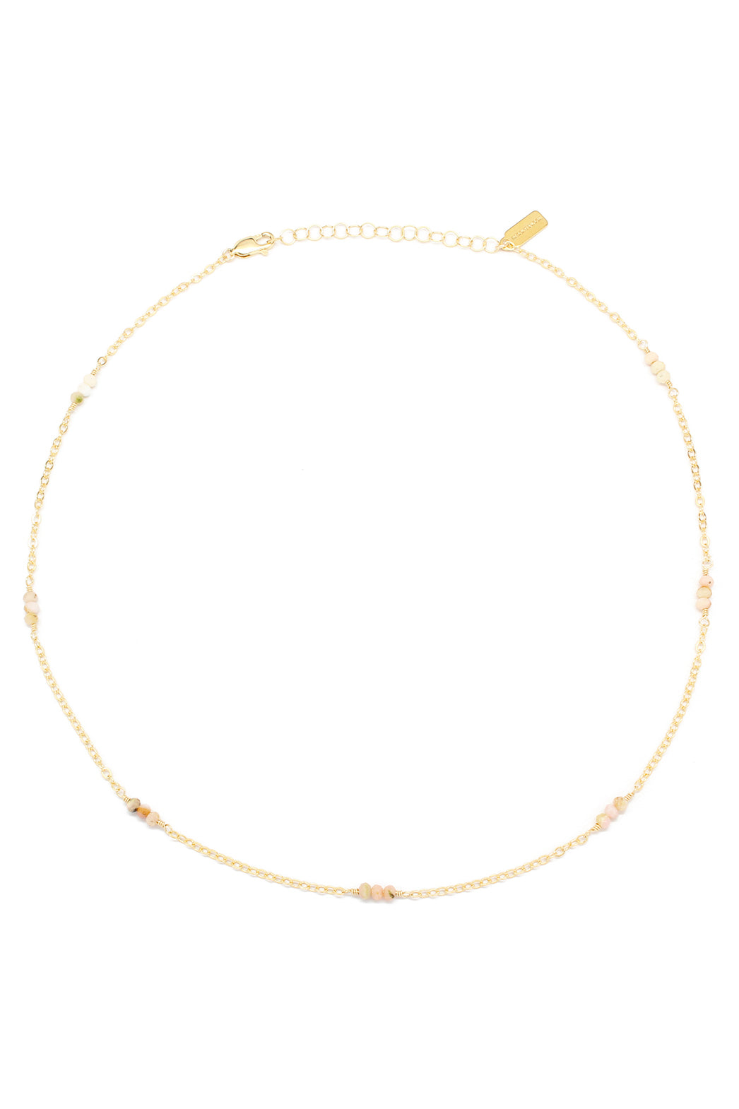 Lilly Necklace | Pink Opal
