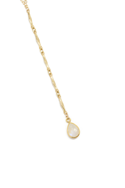 Amber Necklace (Long) - Moonstone