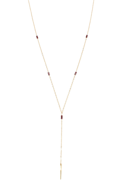 Melody Long Necklace | Garnet