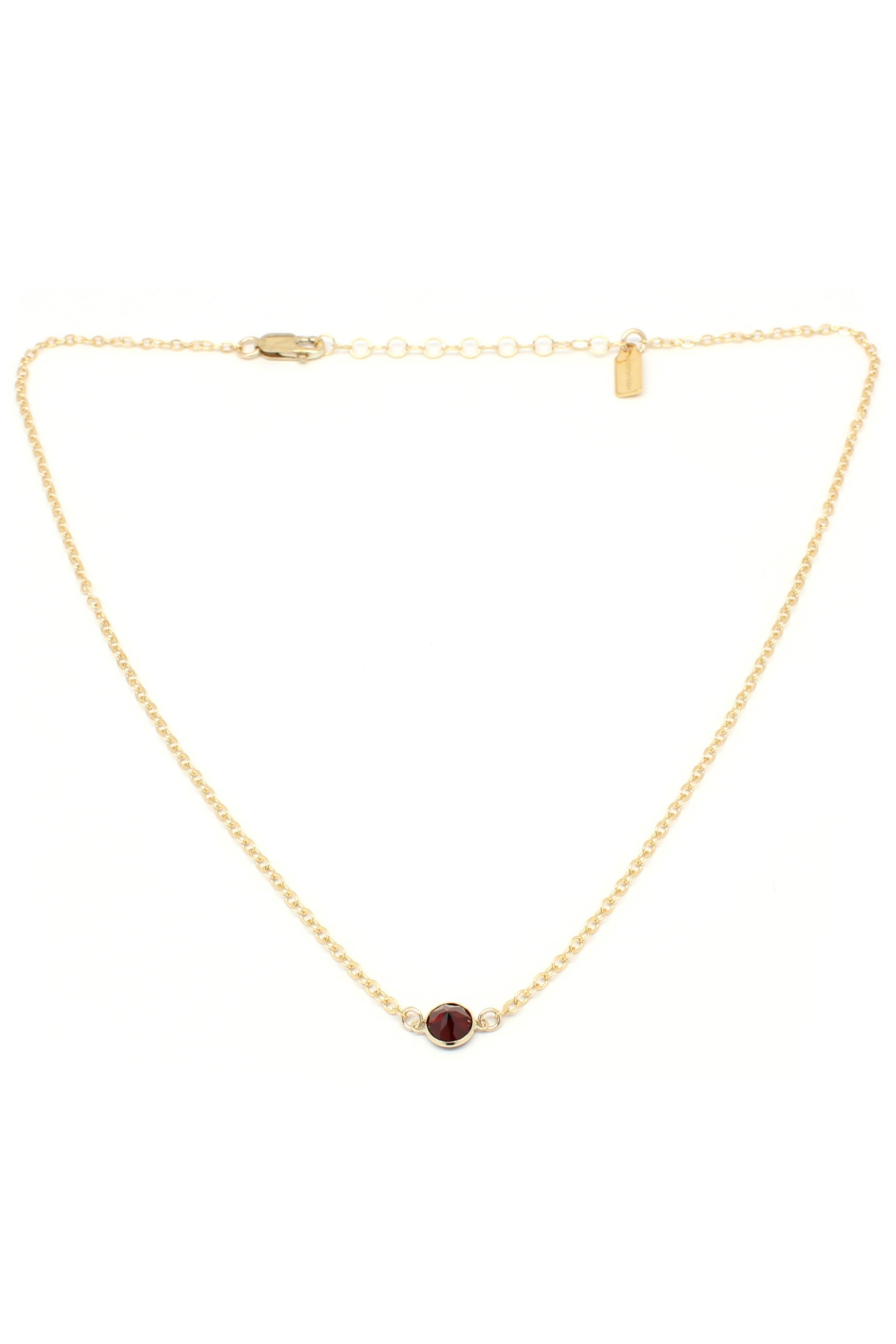 Stella Necklace | Garnet