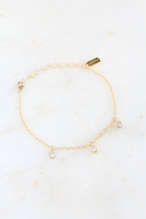 Gold Cubic Zirconia Stevie Shaker Bracelet Brooke Landon Jewelry