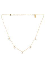 Gold Cubic Zirconia Stevie Shaker Necklace Brooke Landon Jewelry