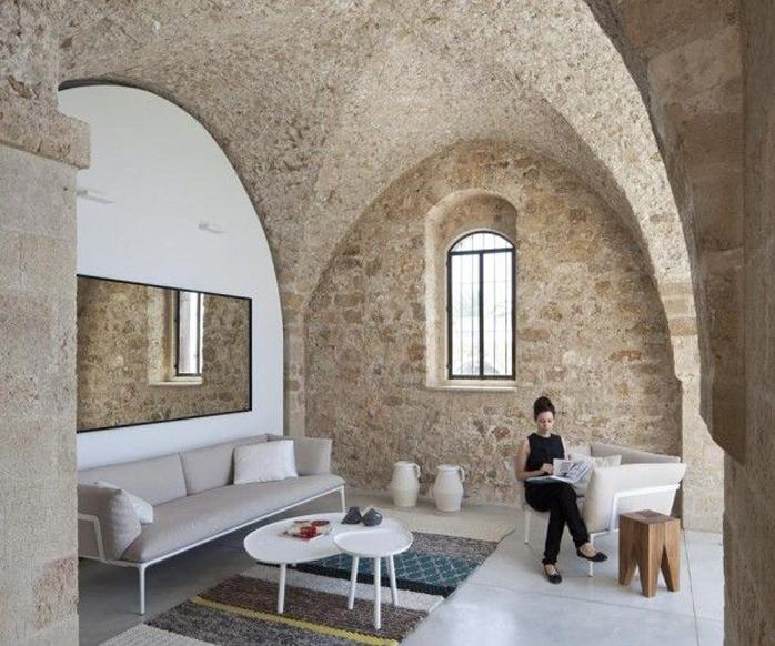 Old architecture meets modern furnishings in a jaffa flat