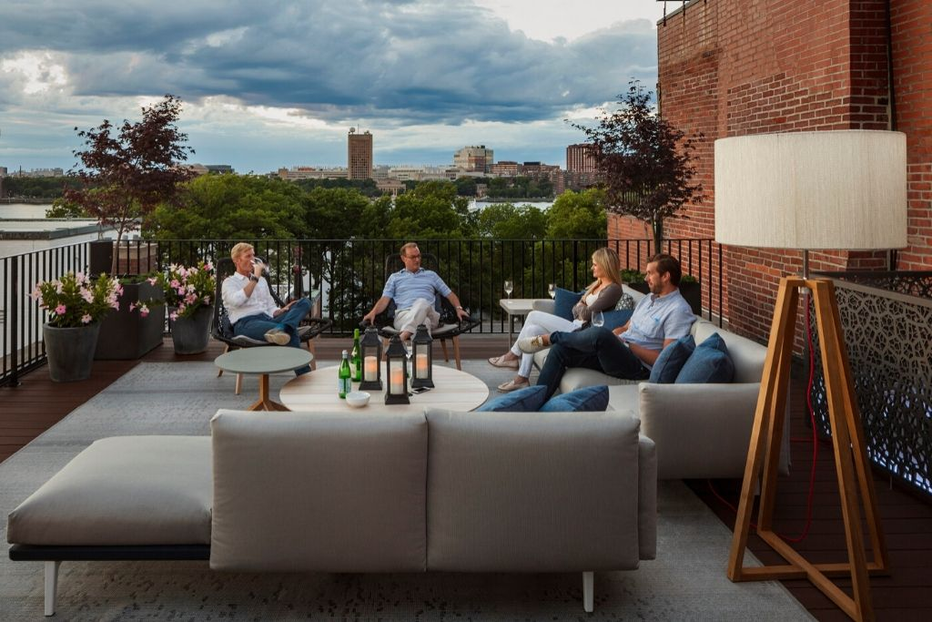 Jon pate's back bay roof deck rises to every occasion