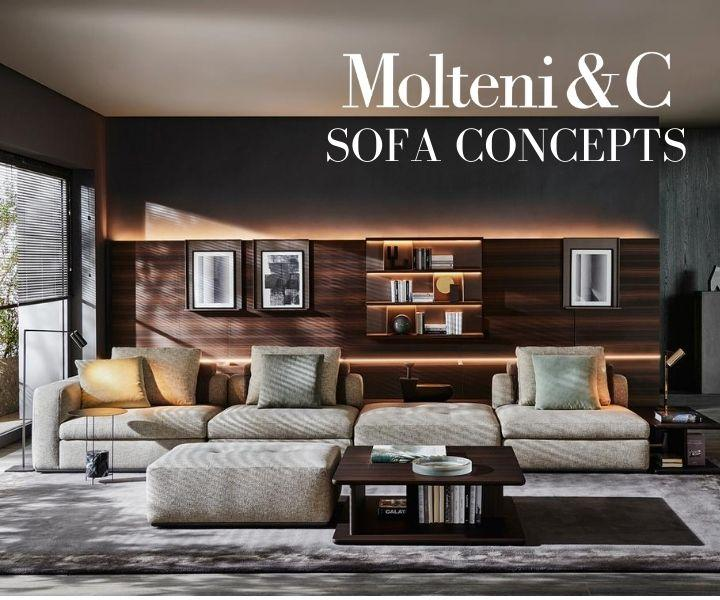 Molteni&Camp Albert and Gregor sofa