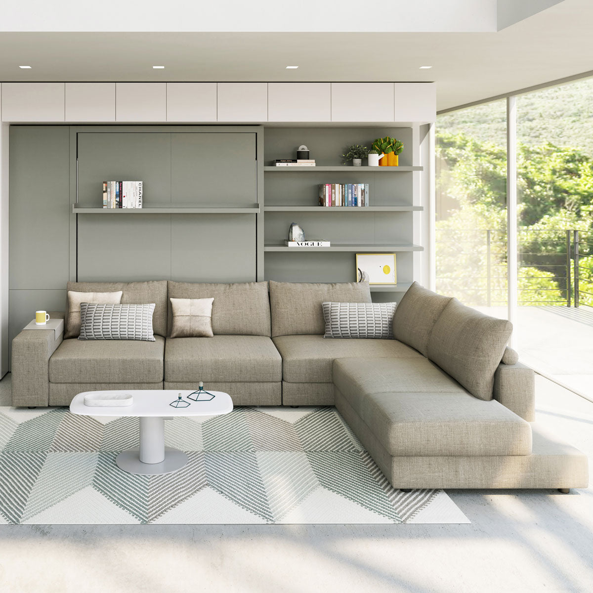 Clie Transformable Sectional Sofa and Murphy Bed