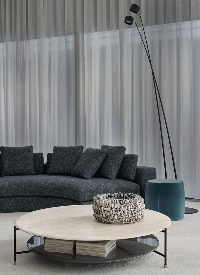 Meridiani Herold Curved Modular Sofa designed by Andrea Parisio
