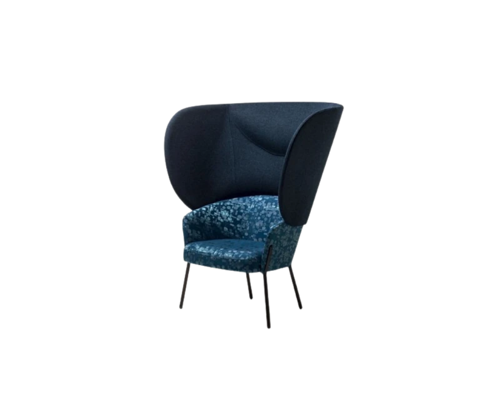 Wam 1571 Bergere Lounge Chair Bross Italy