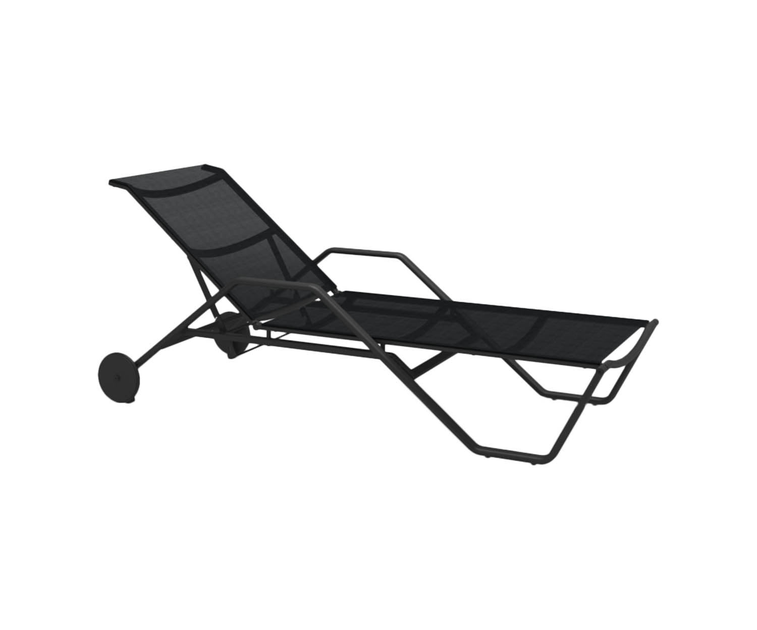 Gloster 180 Stacking Lounger Black