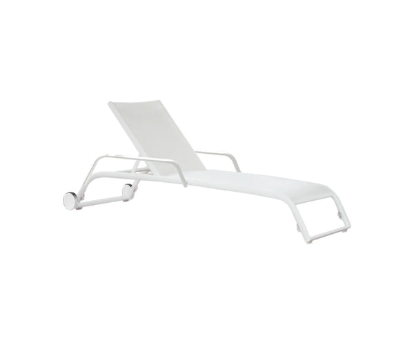 Duo Deckchair, Wheels And Arms