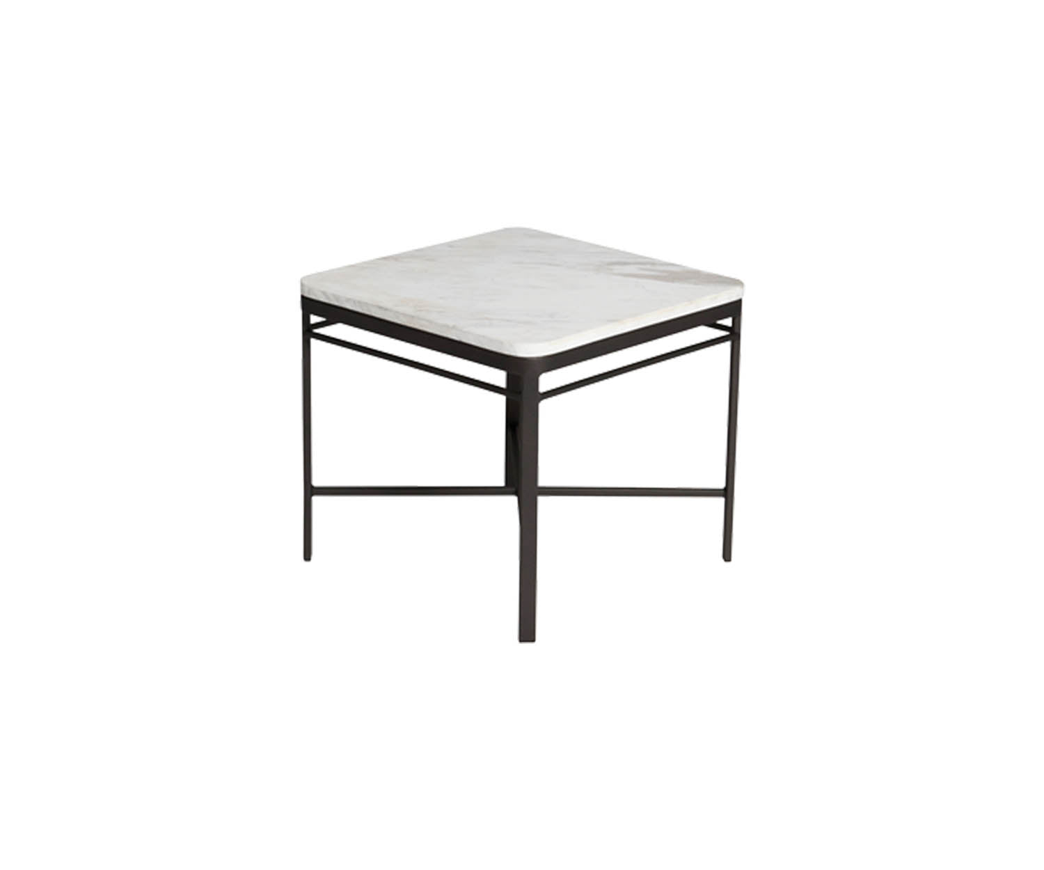 Triconfort 72760 Side Table Black Frame and Marble Top