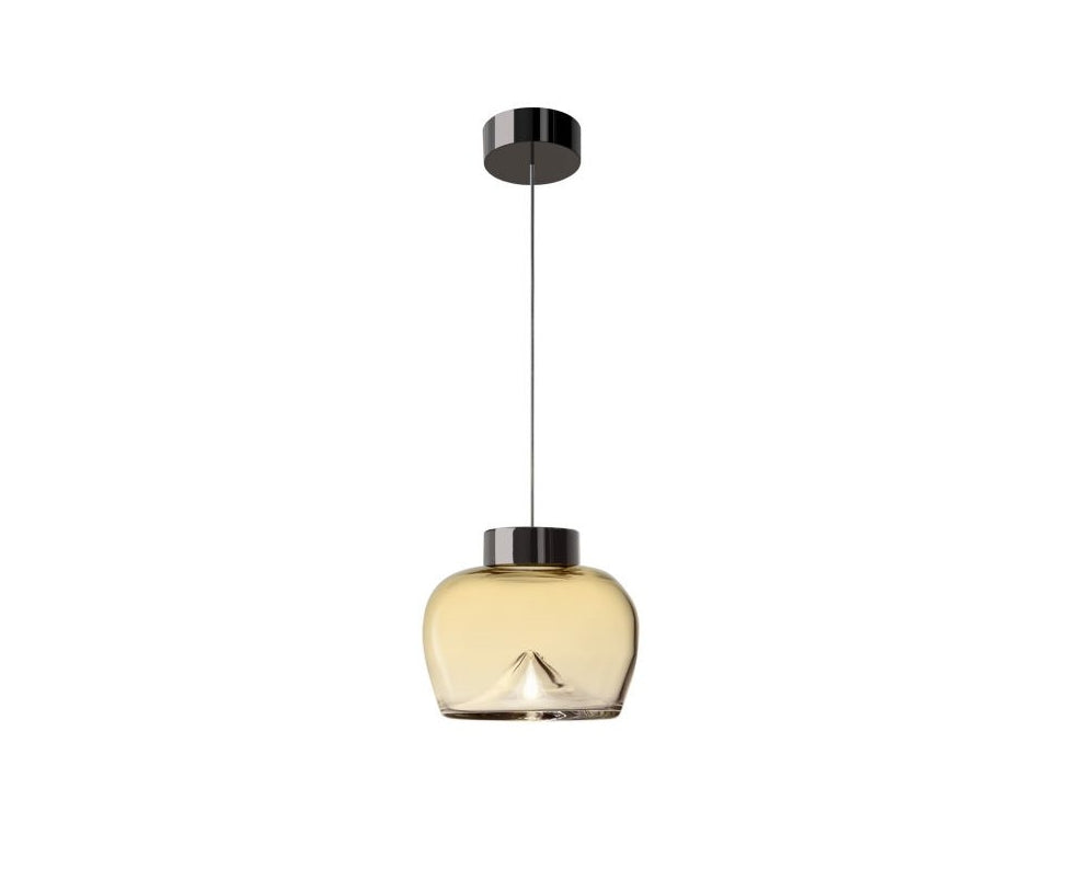 Leucos Aella Bold Suspension Amber and Gold