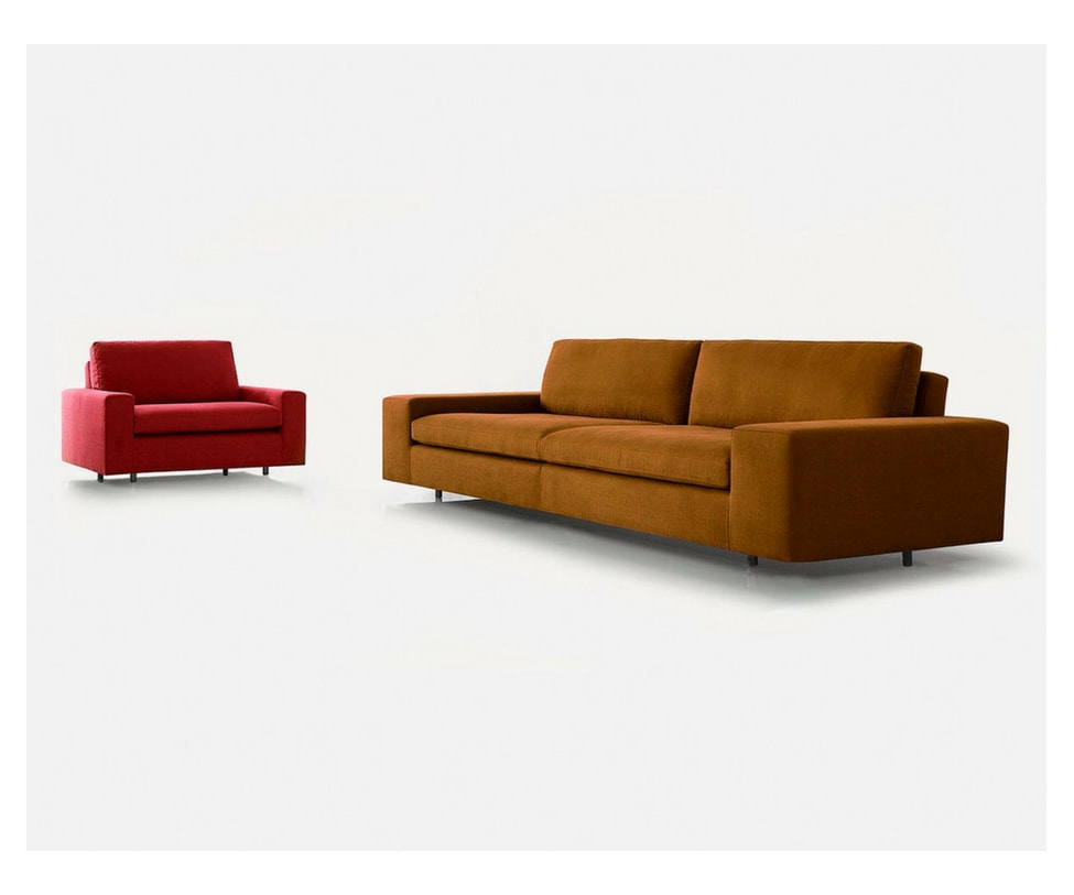 Sancal Air Sofa Mustard and Red