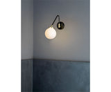 Array Single Opal Wall Sconce