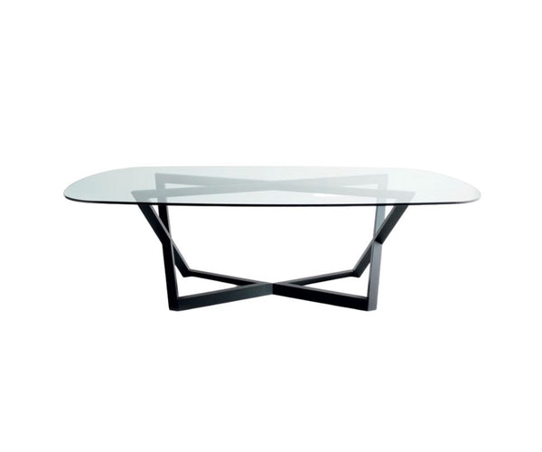 Bross Italia Bridget Dining Table Glass Top