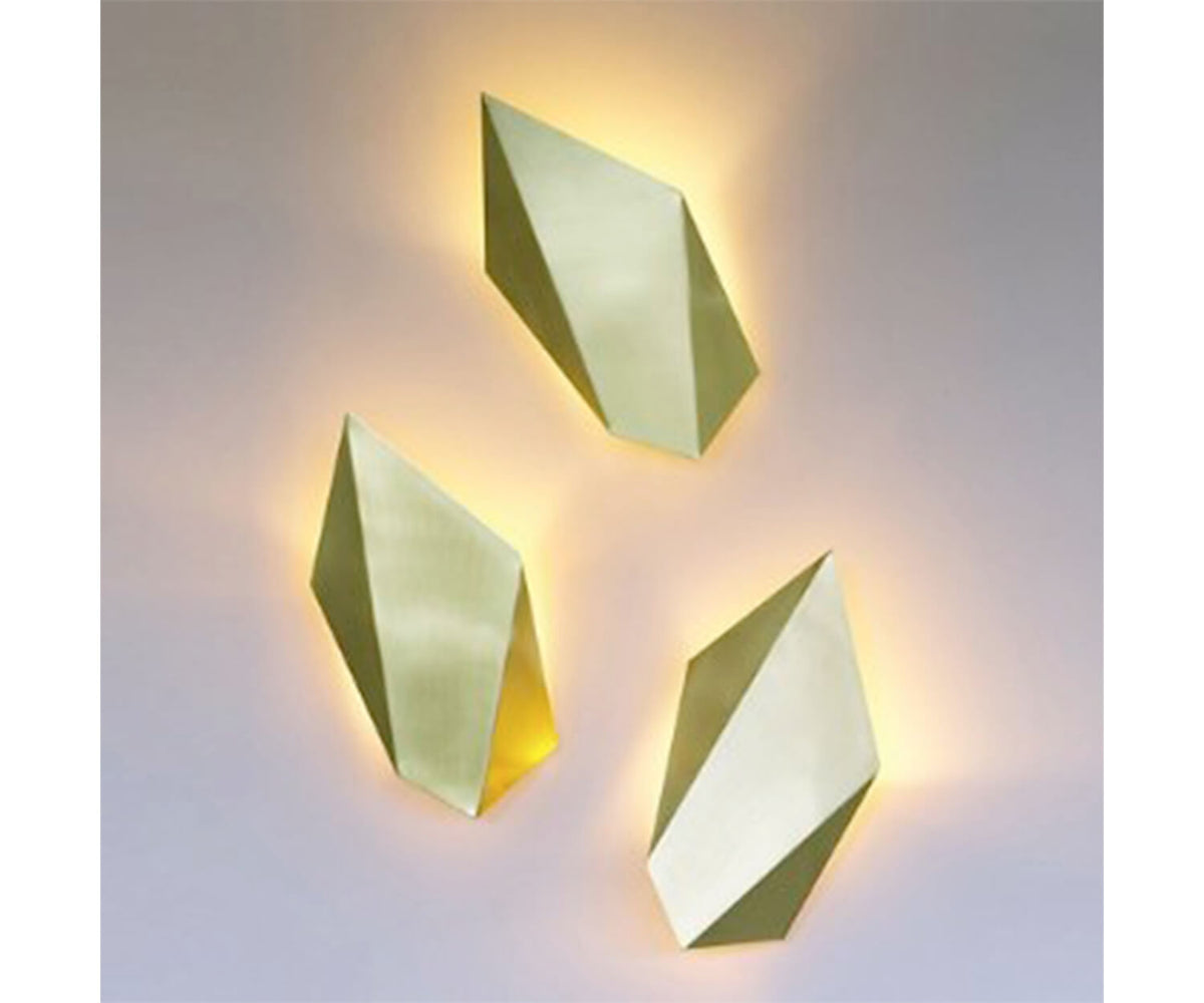 CTO Lighting Abstract Wall Sconce Gold