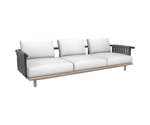 Eden 3seater sofa - padded belts back