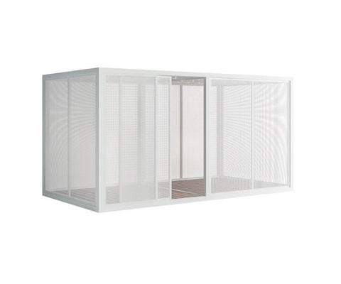 Perforated Sheet Sidewall Pavilion