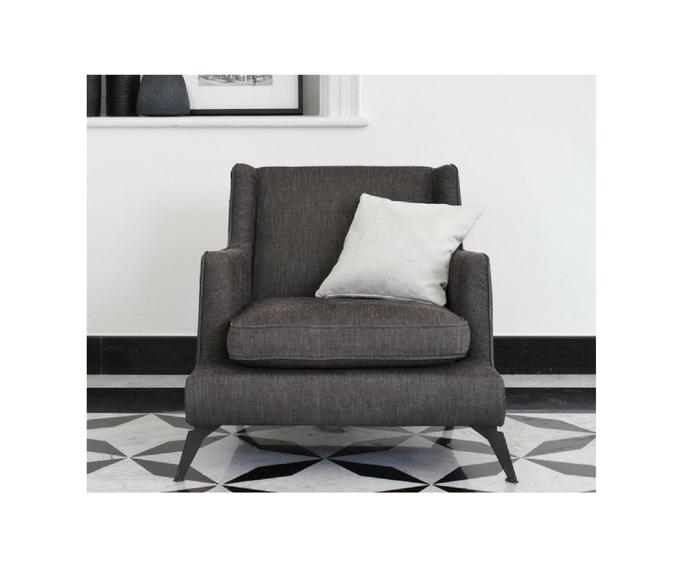 Vibieffe 680 Class High Back Armchair Graphite Fabric