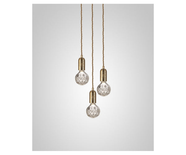 Crystal Bulb Chandelier 3 Piece
