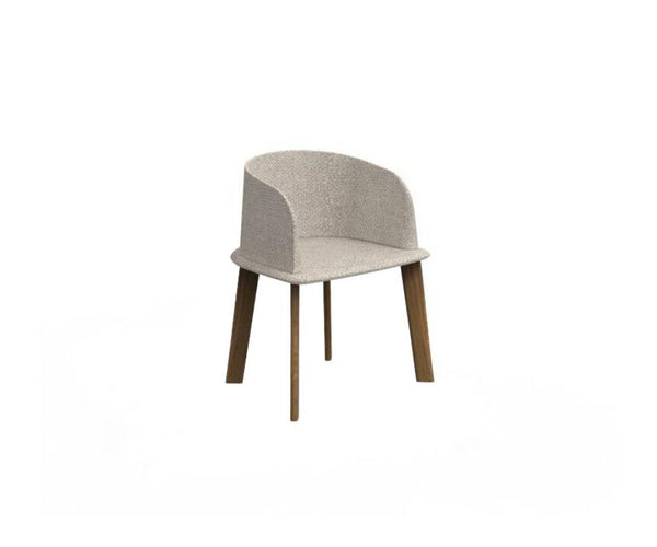 Cleo Teak Padded Tub Chair