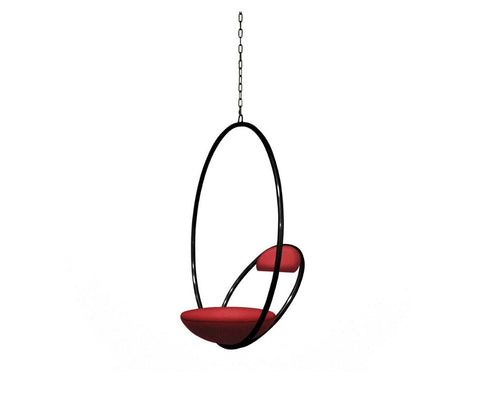 Hanging Hoop Chair Matte Black