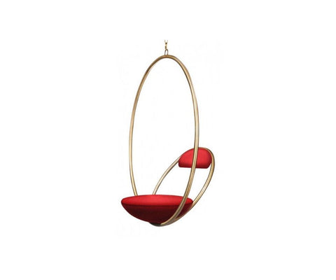 Hanging Hoop Chair Brushed Brass