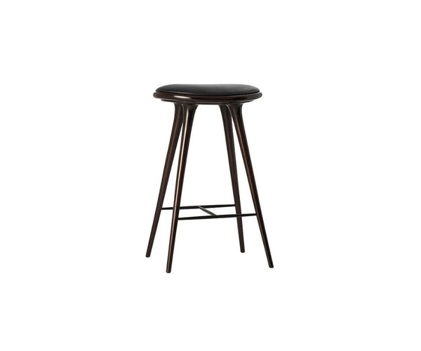High Stool Dark Stained Beech Mater