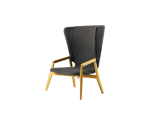 Knit High Back Armchair