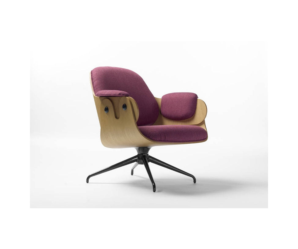 Low Lounge Armchair - Swivel Base