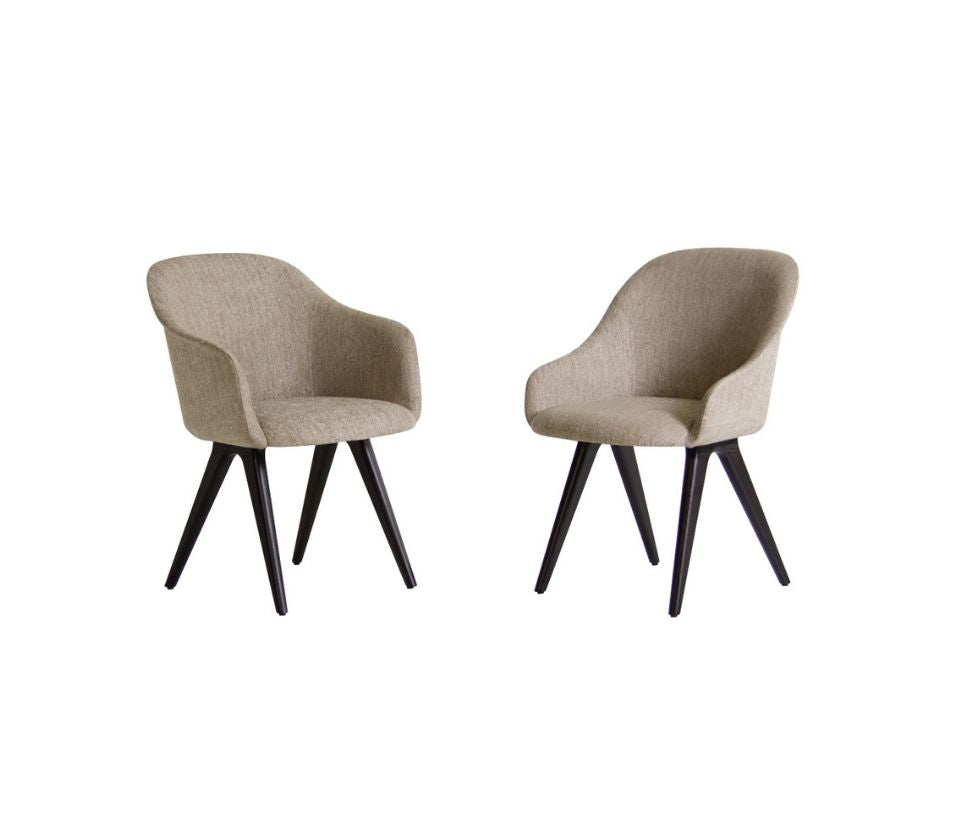 Lyz Fully Padded Seat With 4 Wooden Legs Potocco