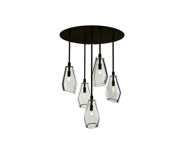 "Muse 24"" Ø 5-Light Chandelier"