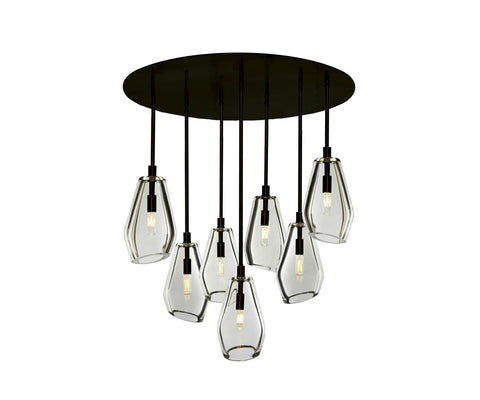 "Muse 30"" Ø 7-Light Chandelier"
