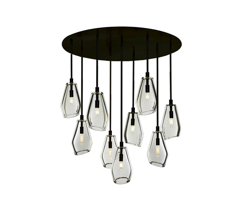 Muse 36 ø 9 light chandelier