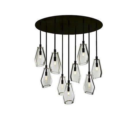 "Muse 36"" Ø 9-Light Chandelier"