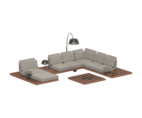 Mozaix Outdoor Lounge Set Mahogany