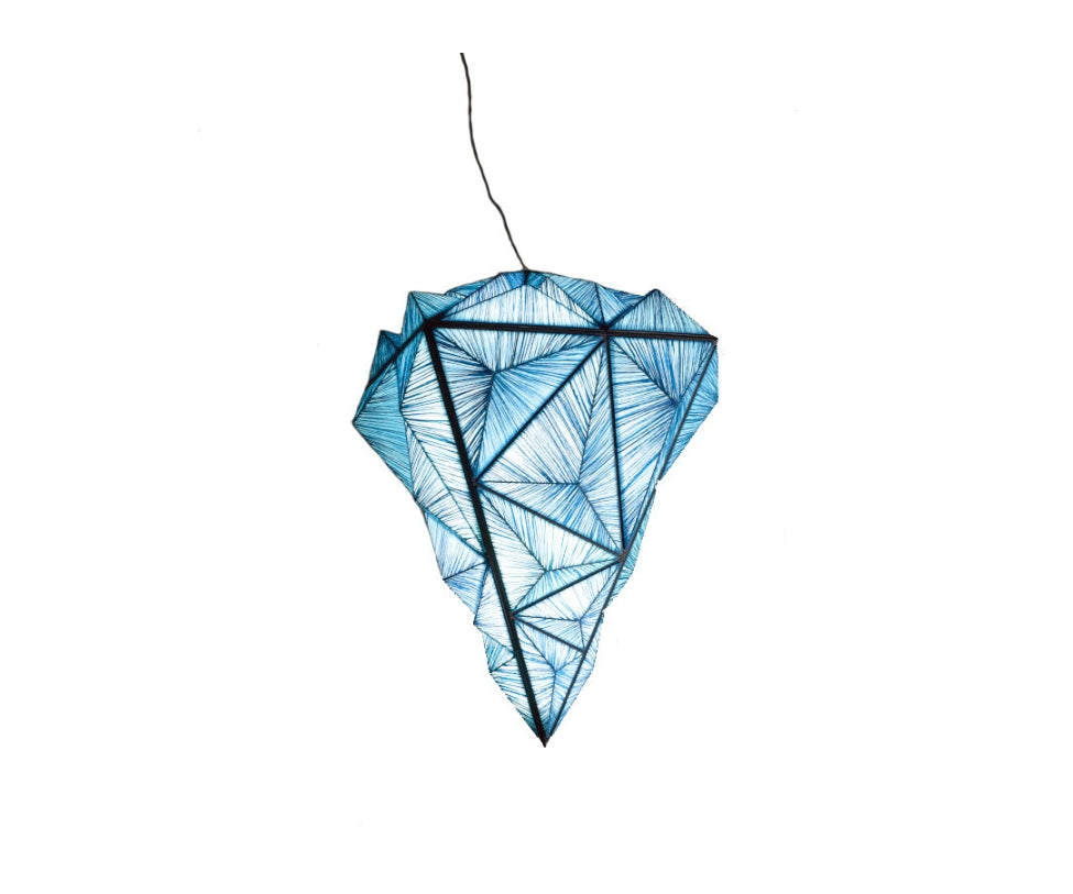 Zooid Diamond Pendant Light Aqua Creations