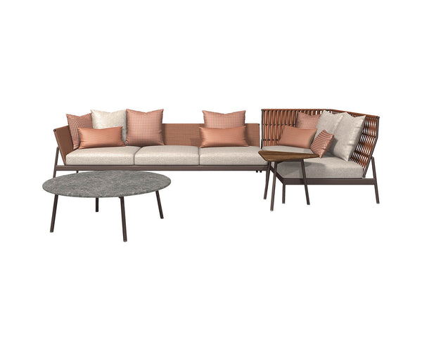 Piper High Back Sectional Sofa