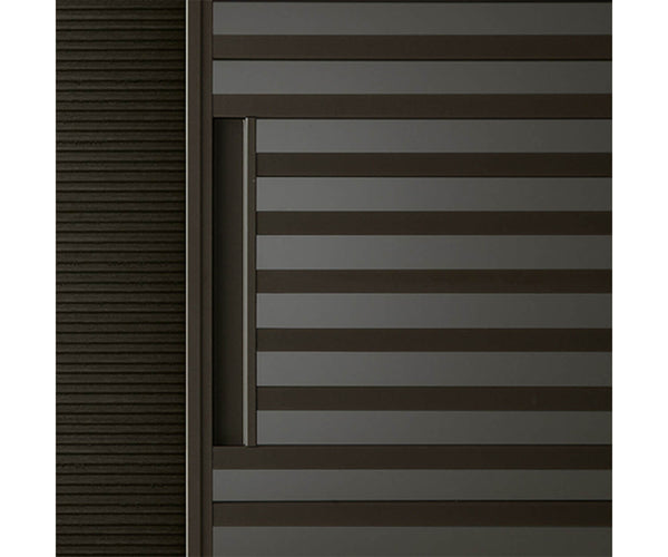 Stripe sliding doors