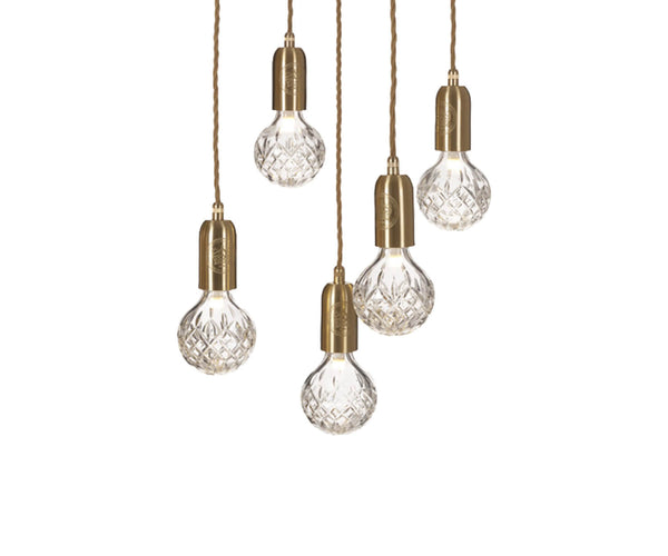 Floor Sample Clear Crystal Bulb 5 Piece Chandelier