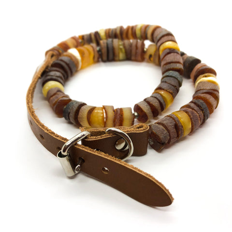 cognac cherry and butterscotch amber pet collar